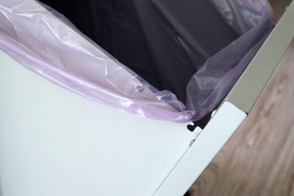 dettaglio sacchetto nascosto istruzioni